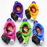 bicycle security holders - 1pcs Top Quality Multicolor Mountain Bike Bicycle Lock Wire Steel Cable Lock Anti theft Security Lock Holder Multicolor