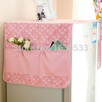 Wholesale Cute daisy printing fabric refrigerator dust cover fashion with pocket