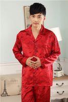 Wholesale Mens Silk Satin Pajamas Set Pajama Pyjamas PJS Sleepwear Set Loungewear S M L XL XL XL XL__Perfect Gifts