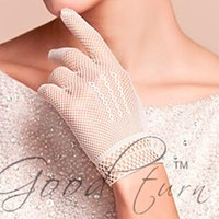 Wholesale Hot sale fishnet mesh gloves fashion women gloves summer sunscreen UV protection lace elegant lady party gloves