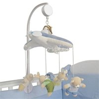Wholesale Pure White Bracket Set Baby Crib Mobile Bed Bell Toy Holder Arm Bracket Wind up Music Box