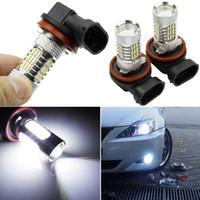 Wholesale 2pcs Xenon White H11 High Power Bright COB LED Projector Bulb For Car Driving Fog Light