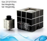 Precio de Nube rda champ-Tebeco Rubik cubo rda forma cúbica cuadrada Contorno de flujo de aire superior Modificador de Atomizador Rebuildable HELLBOY Baal Nube Champ turbo Troll GA mini Goblin RBA