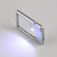 Wholesale Newest Credit Card x x Magnifier Magnifying LED Light Jewelry Loupe For reading Good use Hot Selling
