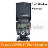Cheap YONGNUO YN560 IV Universal 2.4G Wireless Flash Speedlite for Canon 6D 7D 60D 70D 5D2 5D3 700D NikonD750 D800 D610 Pentax Olympus