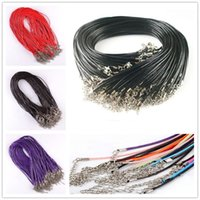Wholesale 10 Per Real Leather Chains Necklace String Charms Findings String Cord mm Wire