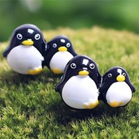 arts crafts dolls - New min artificial Penguin doll fairy garden miniatures gnome moss terrarium kawaii resin crafts home decoration accessories for diy
