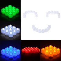 Wholesale 3 cm Romantic LED Flameless Candle Set for Wedding Party Valentine Events Party Decoration Colors