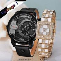 Cheap WEIDE Genuine Brand Fashionable Watches Genuine Leather Watchband Quartz Clock Movement Rose Gold Case Design Hot Sale Items