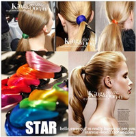 Wholesale Mixed Colours Faux Wig Stretchy Elastic Hair Bands Rope Ring Hair Extensions chain bracelet