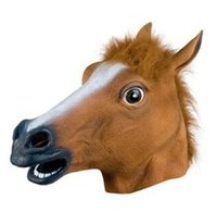 Wholesale Cheap Price Creepy Horse Mask Head Halloween Costume Theater Prop Horse Head Party Masks Creepy Halloween masks DDA3046