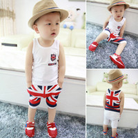 Cheap 2015 New Summer Cotton Baby Spring Baby Girls Boys Newborn bebe Overall Clothes Baby Clothing Short-Sleeve Pant Kids Sport Suit B121