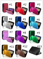 Wholesale Men s Wallet Waterproof Business ID Credit Card Wallet Holder Aluminum Metal Pocket Case For Women Purses