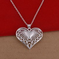 Wholesale Trade jewelry sterling silver necklaces Korean popular heart shaped necklace hollow large spot