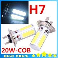 Cheap 2X High Power LED H7 20W White COB LED 12V Fog DRL Car LED Daytime Lights Driving Fog Light Auto Led H7 Parking Free Shipping