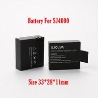Wholesale Original SJ4000 V Li on mAh Backup Rechargable Battery For SJ4000 SJ5000 SJ6000 thick battery size mm