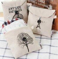 Wholesale ZAKKA cotton canvas trees sanitary napkins Storage bag CM