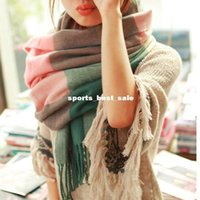 cotton shawls and scarves - Fashion Wool Winter Scarf Women Spain Scarf Plaid Thick Brand Shawls and Scarves for Women