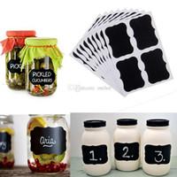 Wholesale 36Pcs Set hot sale Blackboard Sticker Craft Kitchen Jar Organizer Labels Chalkboard Chalk Board Black Stickers