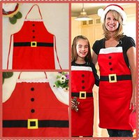 Wholesale Red Christmas Apron for Adult cm Christmas kitchen Cute Chefs cooking cook party flirty apron