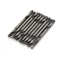 Wholesale 10PCS MM diam Double Ended HSS Stub Metal Twist Drilling Auger bit for Electrical Drill Stell Tools