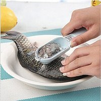Wholesale Cooking Tools Fish Scale Stripper Scraper Fast Cleaning Fish Skin Seafood Tools Kitchen Accessories ZCC035