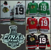 Unisex chicago - Hot Items Chicago toews Blackhawks red black white green Ice Hockey Jerseys with Final Stanley Cup Patch Accept Mix order