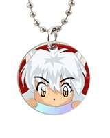 baby dog tags necklace - Hot Japanese Anime Inuyasha Lovely Baby Customized Colorful Design round Dog Tag Necklace Aluminum Tag for Animal Pets Tag