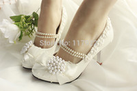 beaded bridal slippers - New Lace Bridal Wedding Shoes Beads Bridesmaid Shoes Hasp Slipper pearls sequins beaded high heel shoes pumps