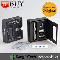 Cheap 2015 Real Original Kanger Aerotank V2 Atomizer Dual Coil Airflow Control Kangertech Genuine Aerotank 2 Clearomizer 2.8ml 510 Thread
