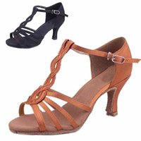 Wholesale colors Satin Latin dance shoes for women Salsa Tango Ballroom shoes zapatos de baile SS