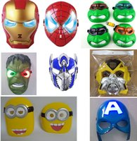 america accessories leading - High Quality LED Mask LED Film Mask American Superhero Iron Man Batman Hulk Captain America Spider Man Mask Glow Flash Halloween Free ship