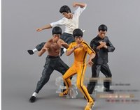 Wholesale 2016 New Piece Size CM PVC Bruce Lee Doll Action Figure Statue Kung Fu Model Toy Gift WJ023