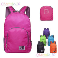 Wholesale NEW ARRIVAL High Quality Waterproof OutdoorTravel bags Fashion sports Backpacks Candy color collapsible backpack LJJD811