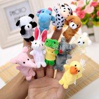Cheap 20 pcs lot finger puppets reborn babies story toy,10 styles animal hand finger puppet doll toy,fantoches de dedo,fantoche de mao
