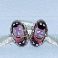 Glass Animals Purple 5pcs 925 Sterling Silver Screw Purple Ladybugs Murano Glass Bead Fits European Pandora Jewelry Charm Bracelets Necklaces & Pendants MU062