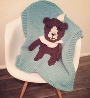 air conditioning bearing - Children Multifunction printing Knit blanket baby animal bear Air conditioning blanket baby Shawl blanket size T1110
