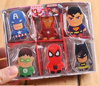 Wholesale The Avengers Erasers Superhero spiderman Superman Batman style eraser School Correction Supplies Children Gifts