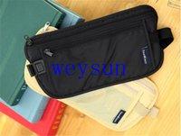 Wholesale DHL Freeshipping Travel Storage Bag Money Security Purse Waist Pack Purse Money Coin Cards Passport Waist Belt Tickets Bag Pouch