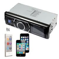 acura aux input - 12V Car Audio Stereo In Dash FM Receiver w Phone MP3 MP4 Player SD USB Input AUX V DIN KST6203 Black