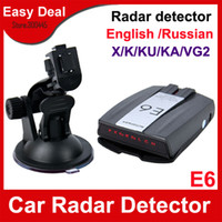 Wholesale E6 Car Radar Detector With LCD Display Support Russina English Voice Car Alarms For GPS Navigator