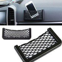 Wholesale Hot Sales Car Seat Side Net Bag Interior Accessories Phone Holder Storage Elastic Net And Polypropylene Size S L CX299