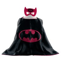 Wholesale L70 W70CM Double Side Batman Superman Cape Mask Reversible Superhero Cape Supergirl Cape Mask Set Via Epacket