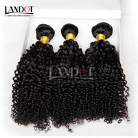 Cheap 4Pcs Lot 8-30Inch Malaysian Kinky Curly Virgin Hair Grade 7A Unprocessed Malaysian Curly Human Hair Weave Natural Black Thick Soft Extension