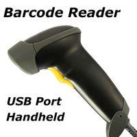 Wholesale Barcode Scanner Long Laser USB Port CCD Handheld Barcode Scanner Bar Code Reader for POS P2P Hours Shipping