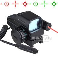 Wholesale New Tactical Holographic Reflex Red Green Dot Scope Reticle Red Laser Sight