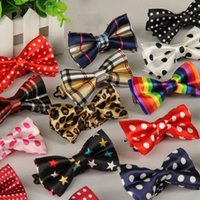 Wholesale 30 colors carton print children bow ties Patchwork Plaid Stars cute bow tie neckties children kids fashion jewelry Christmas gift
