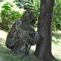 Wholesale Super Natural Leaves Camouflage Leafy Hunting Suit Camo Ghillie Bionic Disguise Training Suit