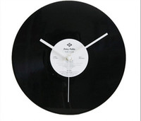 Wholesale FBH032178 wall clock clocks disc unique home decoration bar decor music Film Vinyl record morden new design gifts