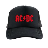 band baseball caps - 2015 ACDC band Street Dancing Caps Skateboard Baseball Cap Black Men Hiphop mesh snapback hat Adjustable Gorras Casquette Hat